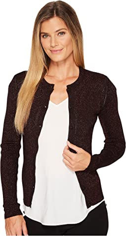 Ellen Tracy - Metallic Pointelle Cardigan