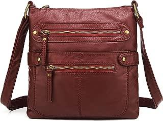 Small Crossbody Shoulder Bag for Women, Ultra Soft Washed Vegan Leather, H1820