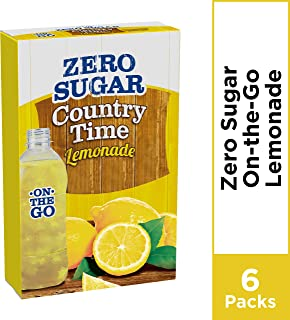 Country Time On-The-Go Powdered Drink Mix, Zero Sugar Lemonade, 1 bx - 6 ct Packets