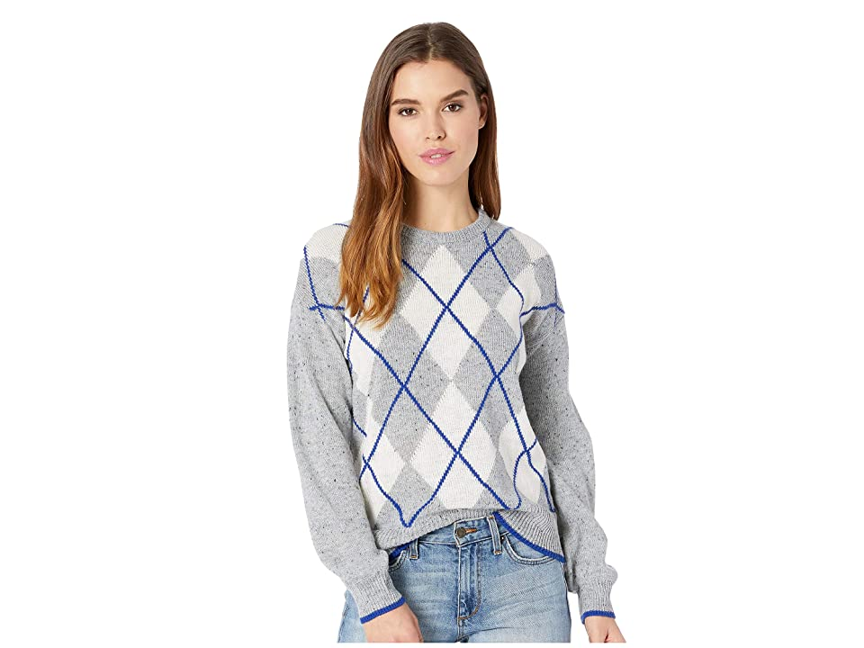 Cupcakes and Cashmere Indy Argyle Sweater (Heather Grey) Women