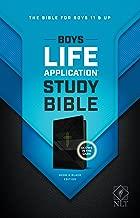 NLT Boys Life Application Study Bible, TuTone (LeatherLike, Neon/Black)