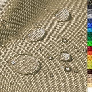 1buy3 Premium Wasserdichter Polyester Stoff | 8450 mm Wassersäule | Farbe 04 | Khaki | Polyester Stoff 160cm breit Meterware wasserdicht Outdoor extrem reissfest