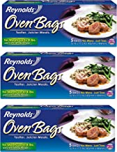 Reynold Oven Bags, for Meats up to 8 Lbs. 5 Bags, Pack of 3 (15 Bags)