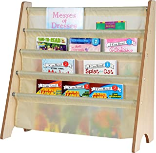 Naomi Home Kids Toy Sling Bookrack Natural/Cream