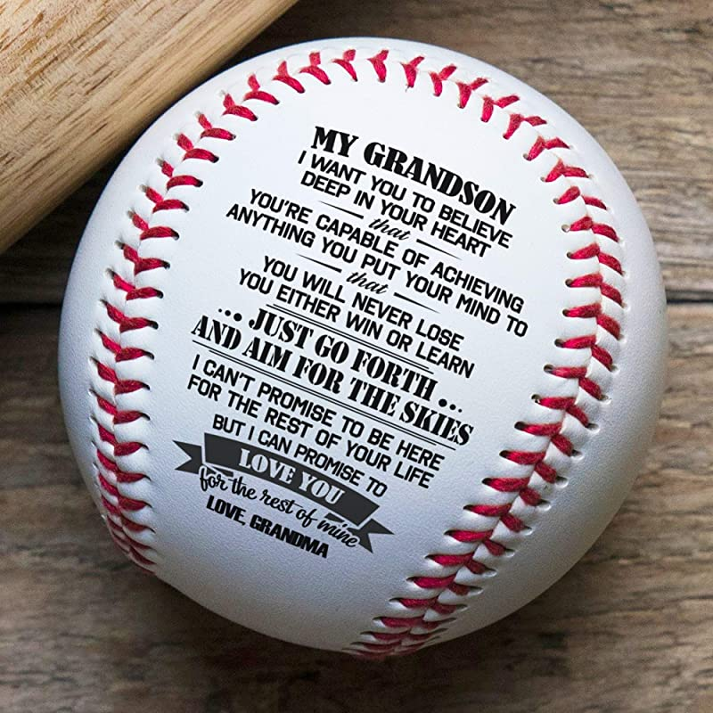 QUARTZILY Printed Baseball Grandma To Grandson Baseball You Will Never Lose From Grandma