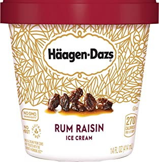 Haagen-Dazs, Rum Raisin Ice Cream, 14 Fl Oz