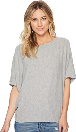 Michael Stars Madison Brushed Elbow Sleeve Boat Neck