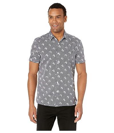 Perry Ellis Slim Fit Arrow Print Shirt (Ink) Men