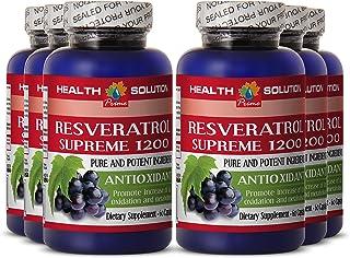 Resveratrol weight loss - RESVERATROL SUPREME 1200MG - promote skin and eye health (6 Bottles)