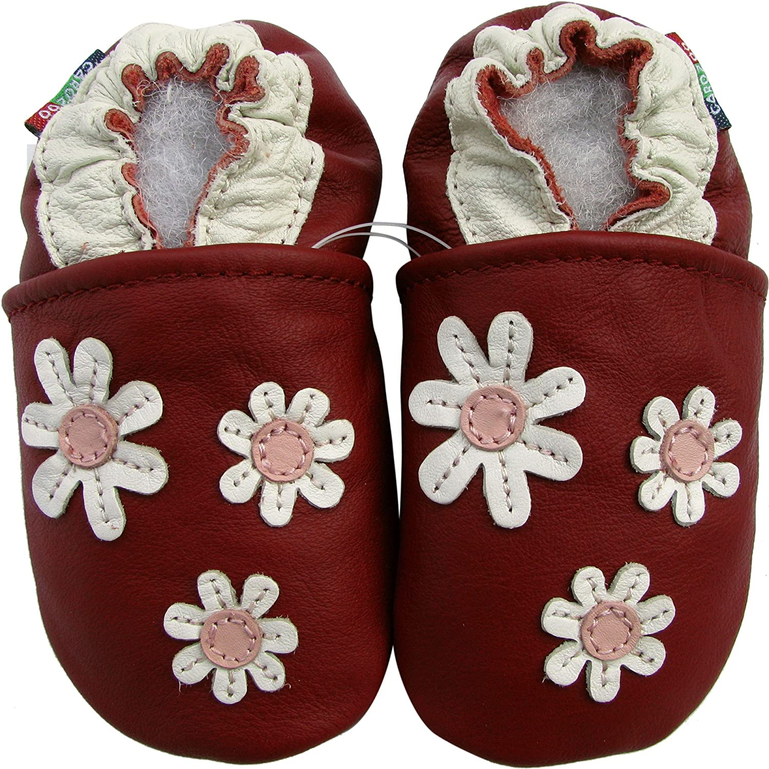 Carozoo Christmas Unisex 0-6M up to 8 YRS 24 Designs Soft Sole Leather Shoes