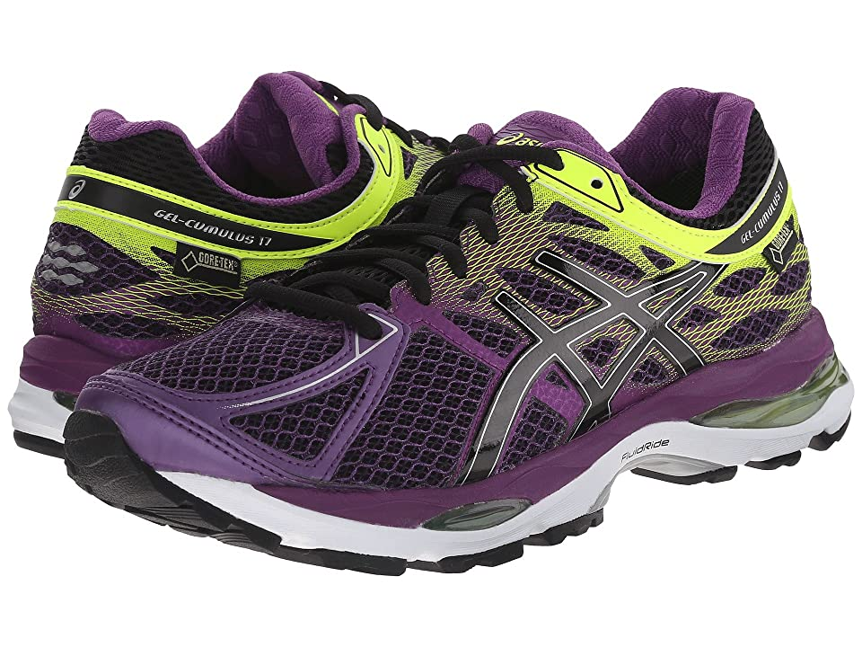 ASICS GEL-Cumulus(r) 17 GTX(r) (Plum/Onyx/Flash Yellow) Women