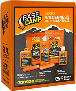 Dead Down Wind Base Camp Wilderness Care Essentials Kit | 26 Piece | Odor Eliminating for Hunting & Camping | Scent Blocke...