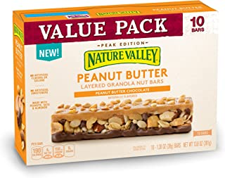 Nature Valley Layered Peanut Butter And Chocolate Granola Nut Bars, 13.8 oz