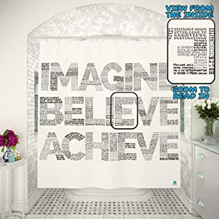 Best inspirational quotes shower curtain Reviews
