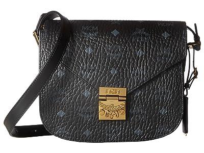 MCM Patricia Visetos Small Shoulder (Black) Shoulder Handbags
