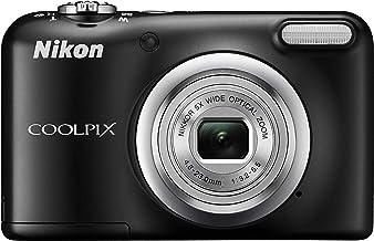Nikon COOLPIX A10 Cámara compacta de 16.1MP con estuche de regalo + extras (objetivo Nikkor con zoom óptico 5x, grabación de vídeo HD, alimentada con pilas AA), Negro