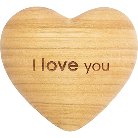 Forest Decor I Love You Wood Heart Decor Anniversary Heart Charms Wedding Hearts Or Engagement Decoration For Couples Or Spouses Love Charm Handmade In Germany Engraved Kitchen Dining