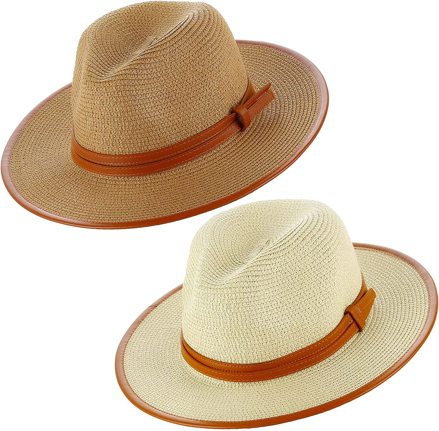 XANNOU 2 PCS Fedora Year-end gift Hats for Over item handling ☆ Hat Women Wide with Brim Be
