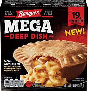 Banquet Mega Deep Dish Bacon Mac 'N Cheese, 14 Ounce