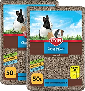 Kaytee Clean & Cozy Natural Small Animal Pet Bedding SIOC 2/50 Liters