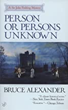 Person or Persons Unknown (Sir John Fielding)
