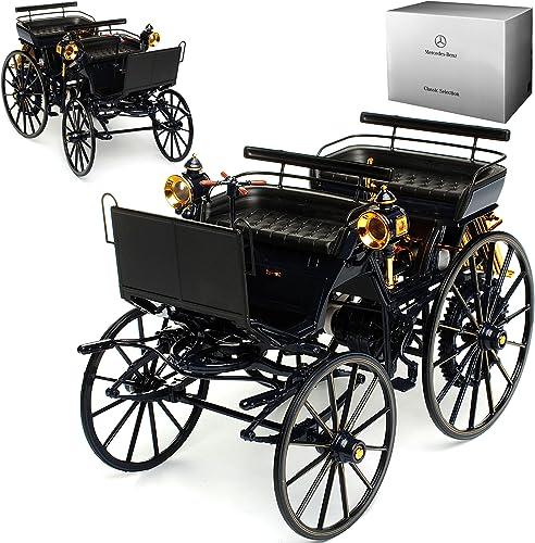 Norev Mercedes-Benz Daimler Motorkutsche 1886 Dunkel Blau 1 18 Modell Auto mit individiuellem Wunschkennzeichen
