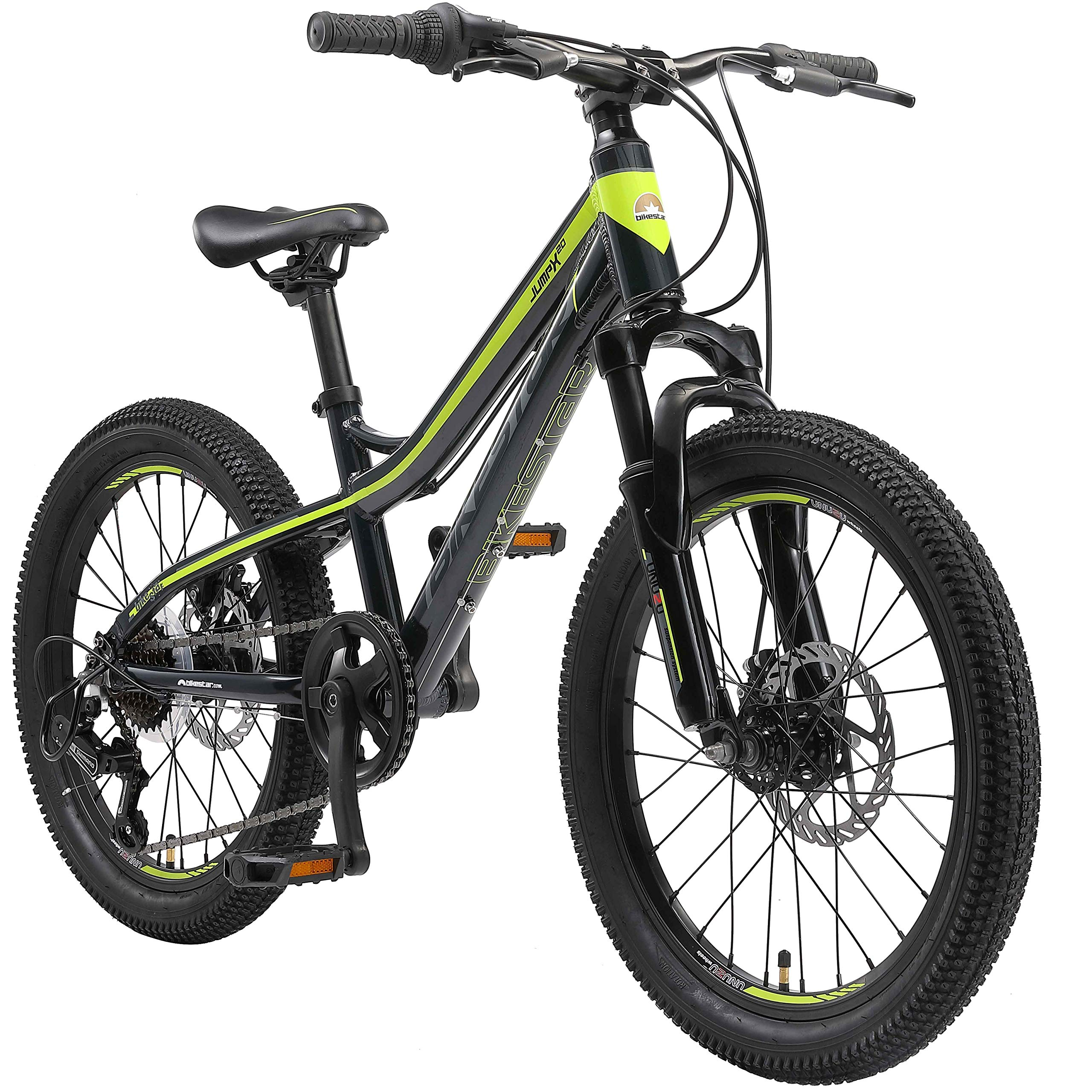 BIKESTAR Kids Mountain bike aluminium 20 Inch 6-9 years   Children youth bicycle 7 gear Shimano, Disc Brake, Suspension…
