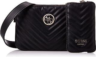 Guess Womens Cross-Body Handbag, Black - VG766314
