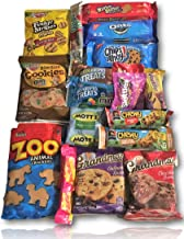 Cookie & Candy Care Package by AtHomePlus (25 Count) -Perfect Gift for College Dorm, Military or Office!!