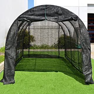 Strong Camel New Hot GreenHouse Large Walk-In BLACK Greenhouse Outdoor Plant Gardening (12'X7'X7')