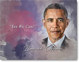 Ramini Brands Yes We Can Barack Obama Inspirational Quote - 8 x 10 Unframed Print - Wall Art Bedrooms, Offices, Living Rooms