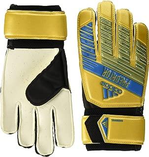 adidas Adult Predator Training Soccer Goalkeeper Gloves , Gold Metallic/Football Blue  , 5