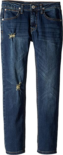 Jagger Slim Straight French Terry Jeans in Ripped Rippedo (Big Kids)
