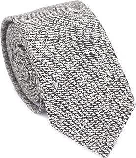 DAZI Men's Skinny Tie, Cotton Wool Linen Necktie, Great for Weddings, Groom, Groomsmen, Missions, Dances, Gifts.