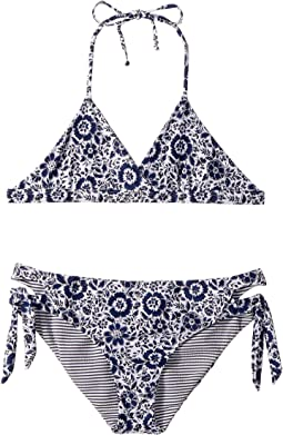 Check Please Reversible Bralette and Cut Out Side Pants (Big Kids)