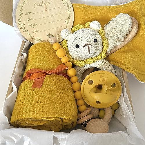 Wave Newborn Neutral Baby Gift Box Set
