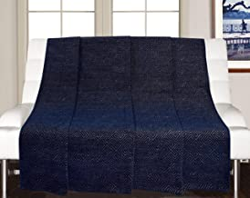 Saral Home Blue Decorative Chenille Sofa Covers/Throw- (140x210 Cms)