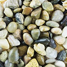 Mini Assorted Garden Beach Stone Rocks Pebbles Aquarium Lake Collection for Outdoor & Indoor Home Garden Decoration, Arts & Crafts Projects, Party Favors, Invitation (1 Pound Bag)