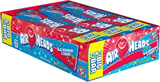 Airheads Candy 2-in-1 Big Bar, Blue Raspberry and Cherry, Non Melting, 1.50 oz (Bulk Pack of 24)