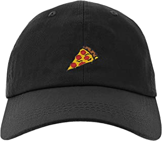 Cap Pizza Slice Pepperoni Embroidery Stitch Baseball Hat