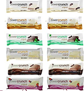 Power Crunch High Protein Energy Snack1.4-Ounce Bars (Pack of 12), Variety Pack of 6 Delicious Flavors