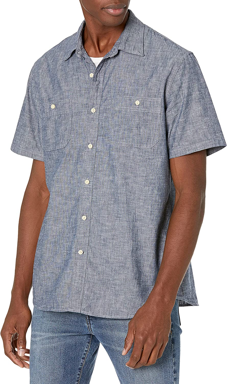 Ranking TOP18 Goodthreads OFFicial mail order Men's Short-Sleeve Chambray Shirt