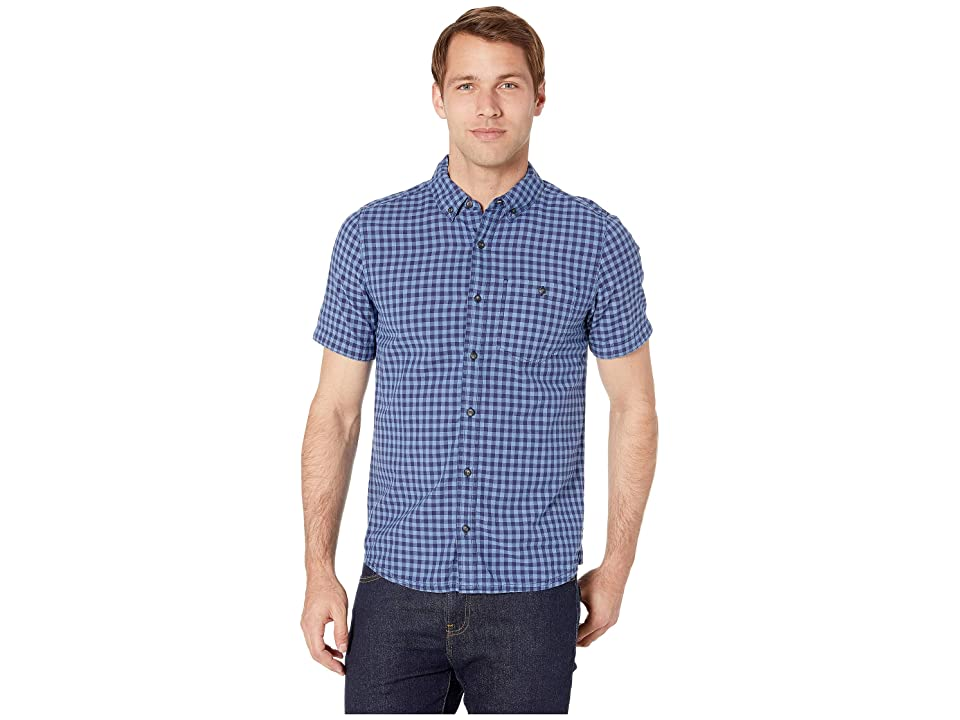 Toad&Co Mattock II Short Sleeve Shirt Slim (Dark Indigo) Men
