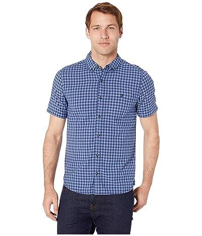 Toad&Co Mattock II Short Sleeve Shirt Slim (Dark Indigo) Men