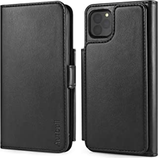 Wallet Case for iPhone 11 Pro Max, Aurbull iPhone 11 Pro Max Leather Case with 6 Card Holder & Driver License Slot, Leather Cover[Kickstand][Dual Magnetic Strap] TPU Phone Holder for iPhone 11 Pro Max