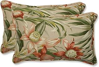 Pillow Perfect Rectangular Outdoor Botanical Glow Tiger Stripe Throw Pillow, Set of 2