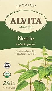 Alvita Organic Herbal Tea Bags, Nettle Leaf, 24 Count