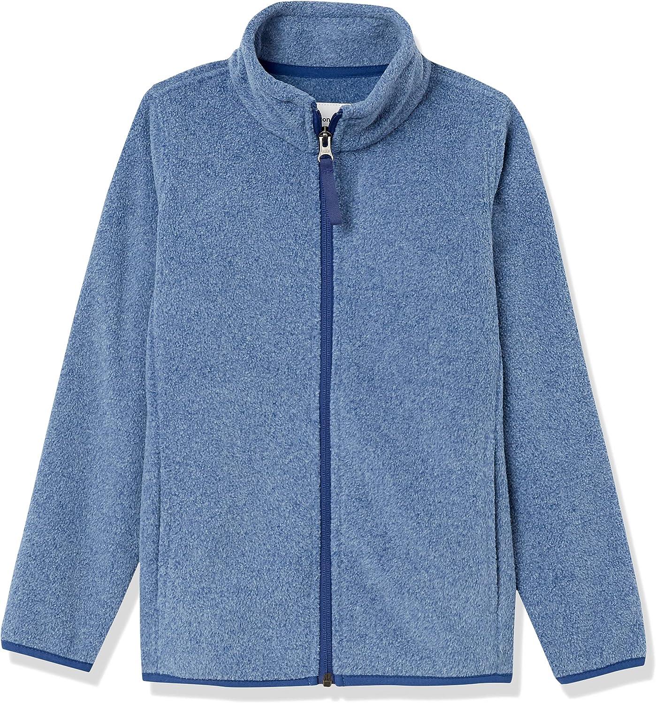 Amazon Essentials Boys' Polar Popular brand in the world Fleece Jackets Full-Zip Mock Japan Maker New