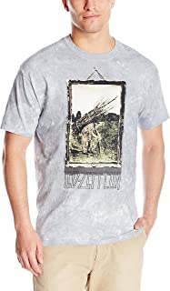 Men's Led Zeppelin Man With Sticks Short Sleeve T-Shirt