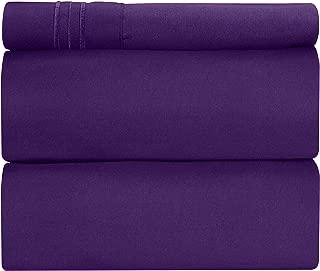 extra long twin sheets purple